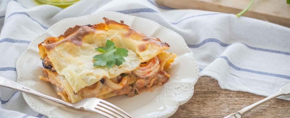 Ricetta Lasagne ai frutti di mare | Agrodolce