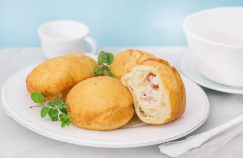 Bomboloni di patate con prosciutto e mozzarella