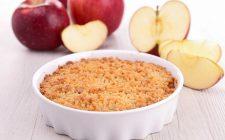 Il crumble di mele con la ricetta vegan