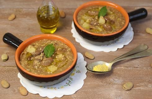 Zuppa di fave secche e miglio