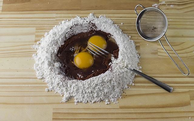 tagliatelle al cacao step1