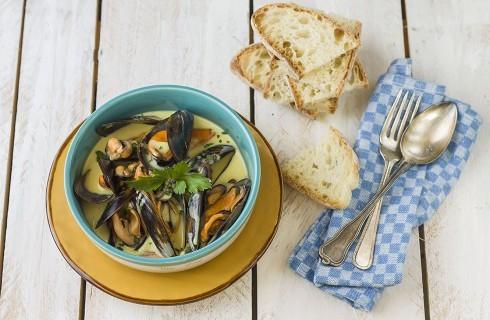 Zuppa di cozze alla francese: Mouclade