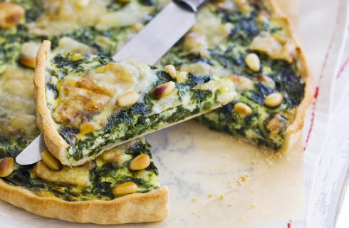 Quiche di spinaci e caprino