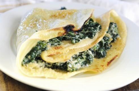 Crêpes di spinaci e ricotta