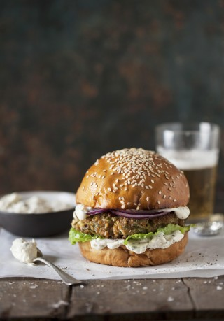 Burger di sorgo, vegano