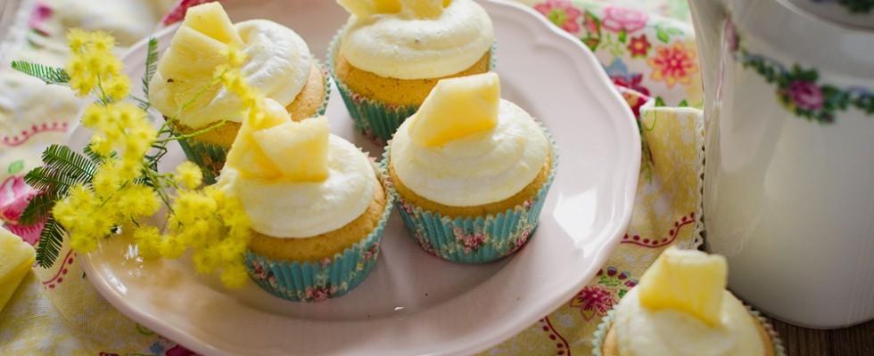 Cupcakes mimosa all'ananas