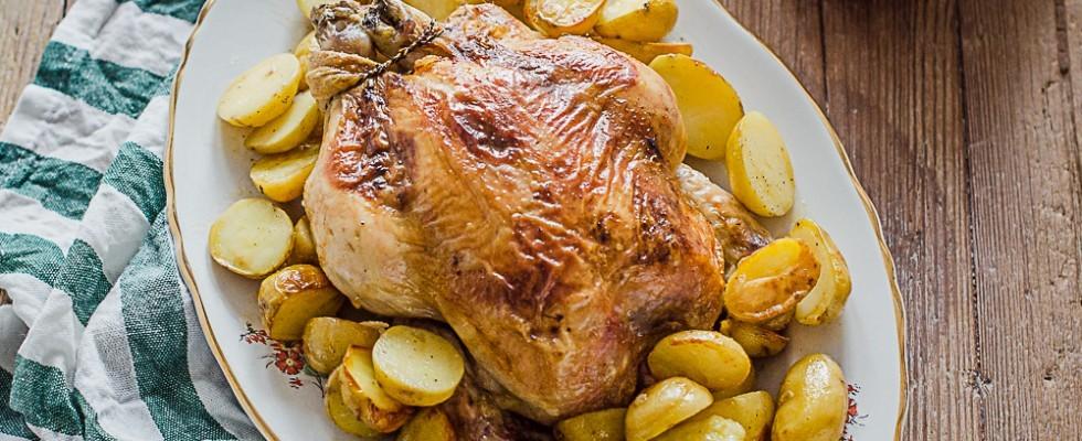 Pollo arrosto con patate: per la cena