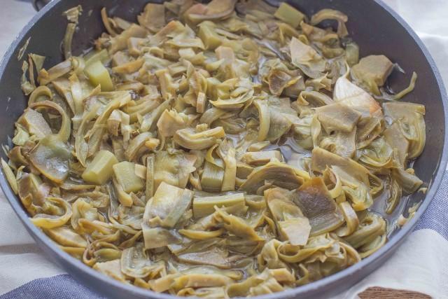 Step 1 pasta con carciofi e salsiccia