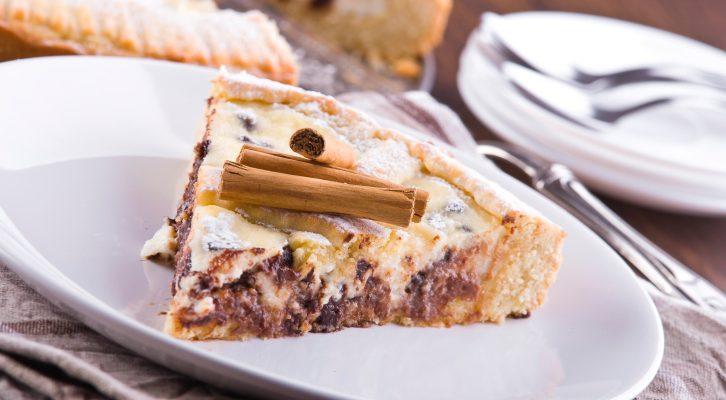 La crostata di ricotta e cioccolato con la ricetta golosa