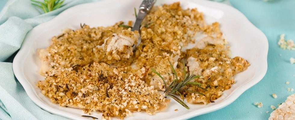 Filetti di platessa gratinati: secondo leggero