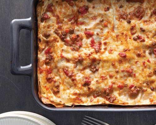 Le lasagne al radicchio con la ricetta di Benedetta Parodi