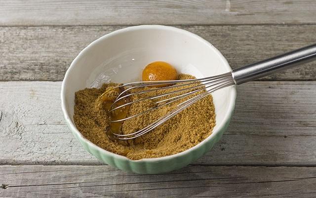 torta integrale con mele e cocco step1