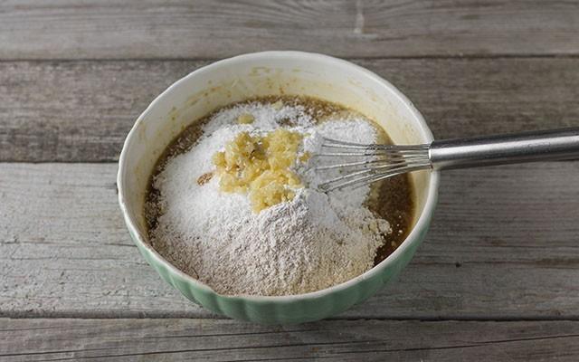 torta integrale con mele e cocco step3