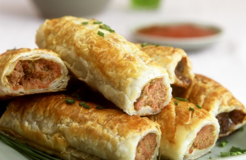 Sausage roll: finger food inglese