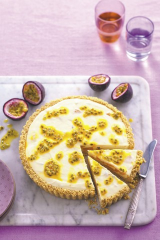 Cheesecake pesca e maracuja
