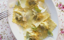 Ravioli with Parmesan and basil