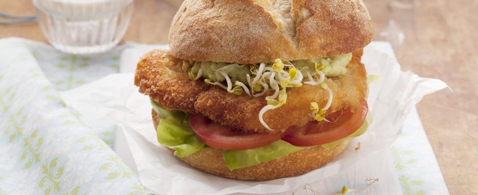 Fish burger di merluzzo