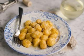 Gnocchi all'ossolana, patate zucca e castagne