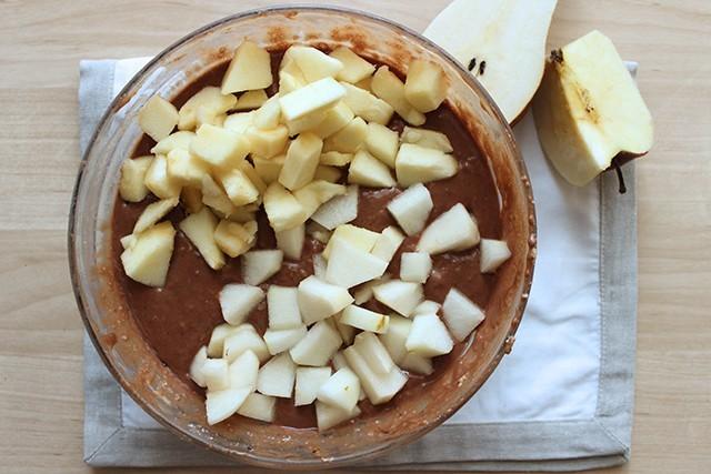 Torta mele pere e cioccolato foto 3