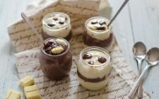 Budino vaniglia e cioccolato, per merenda
