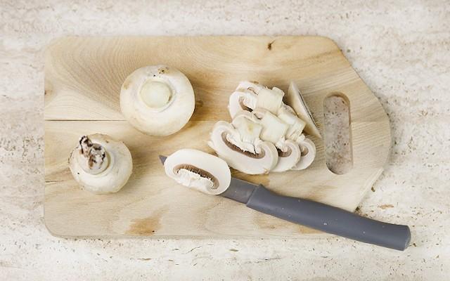 pasta funghi e piselli (1)