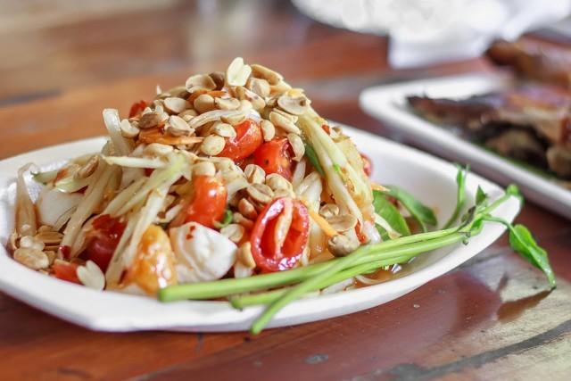 insalata di papaya thai