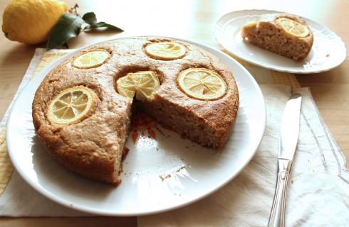 Torta integrale al limone vegana