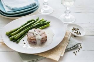 Filetto di maiale al pepe verde