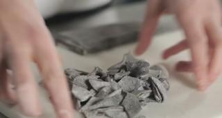 Maltagliati al nero di seppia, pasta fresca