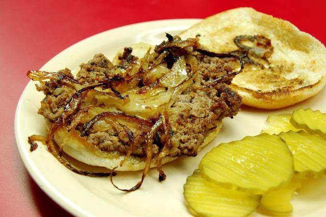 onion fried burger