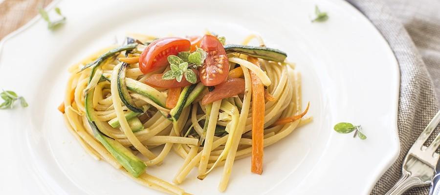 Pasta con le verdure croccanti