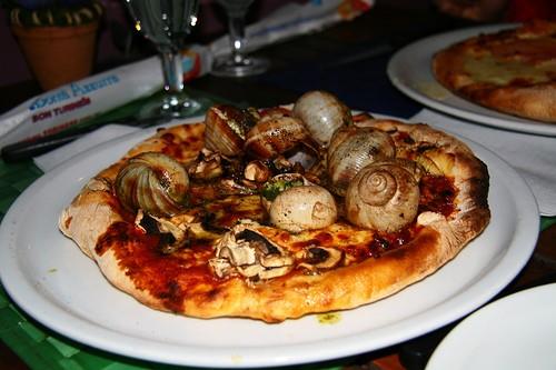 pizza con lumache