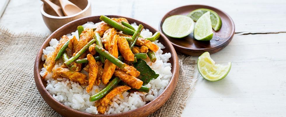Pollo thai piccante: Gai Pad Prik Gaeng