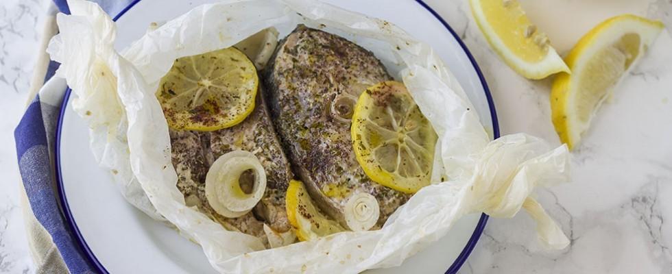 Ricciola al cartoccio, secondo di pesce