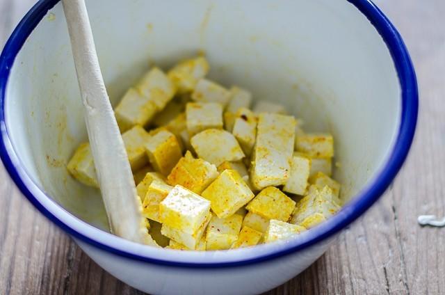 riso venere tofu e asparagi