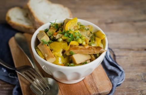 Spezzatino di seitan e verdure