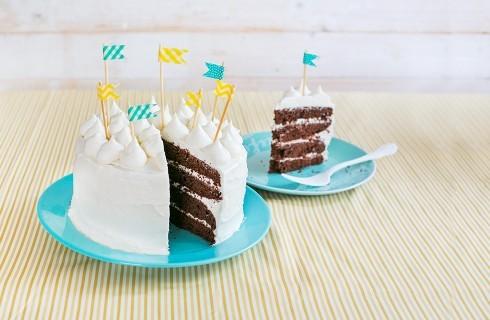 Torta moretta: cioccolato e panna
