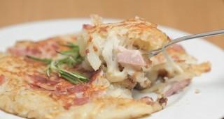 Crostata di patate con prosciutto e scamorza