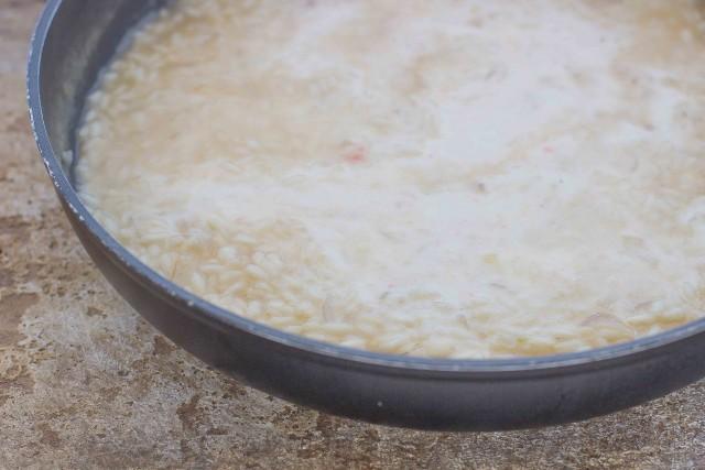 Step 4 risotto alla crema di scampi