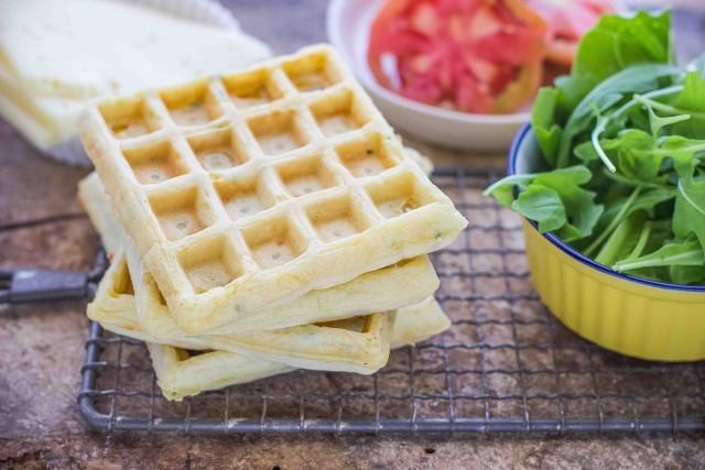 Step 4 waffle salati