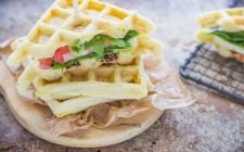 Still life waffle salati