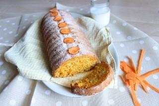 Torta di carote vegan con zenzero