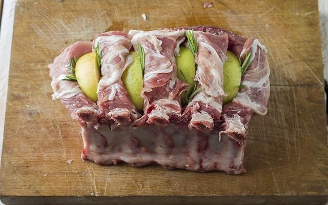 carrè di maiale con le mele step4