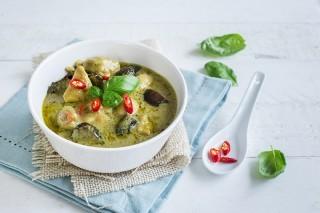 Curry verde con pollo, cucina thai
