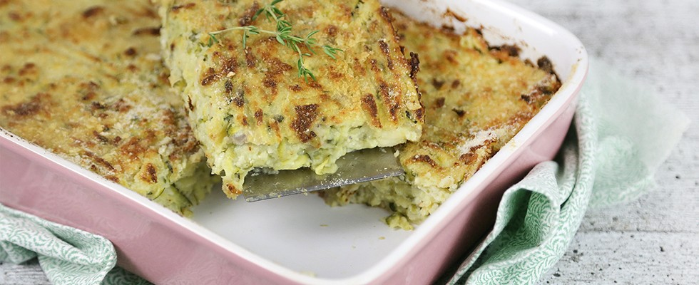 Torta di patate e zucchine