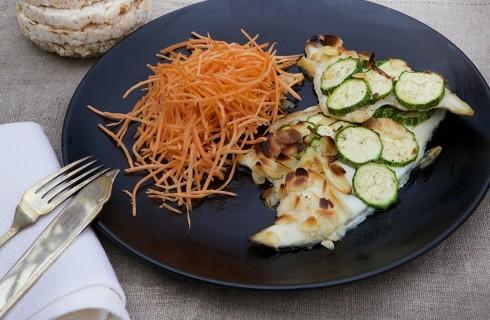 Orata in crosta di zucchine e mandorle