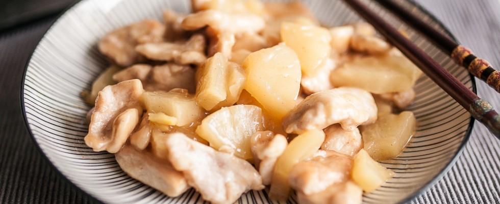 Pollo all'ananas e zenzero