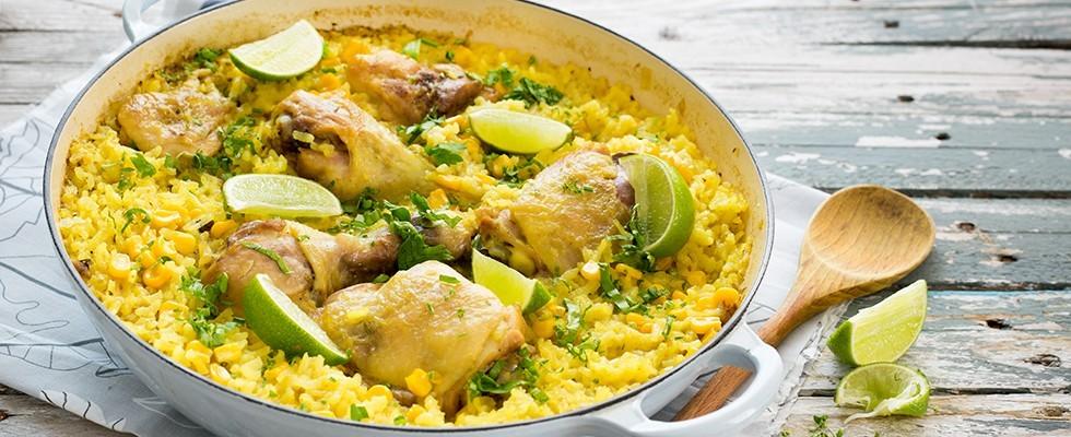 Riso con pollo alla brasiliana