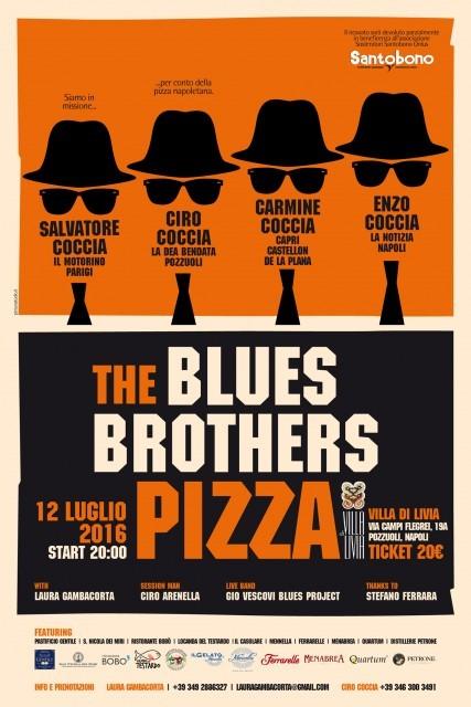 12 luglio Blues Brothers pizza