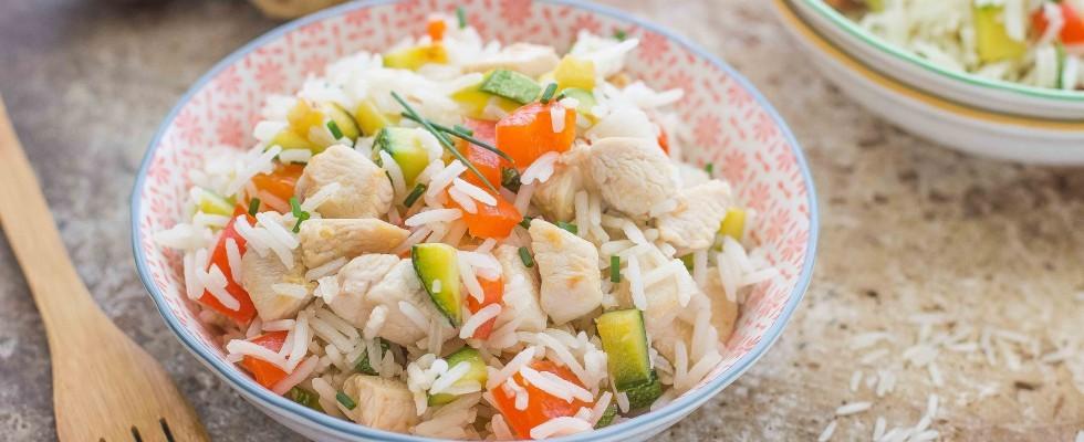 Insalata di riso con pollo e zenzero